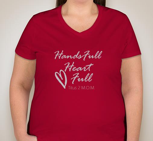 Hands full heart full women 39 s v neck plus titus mom t for Full hand t shirts for womens